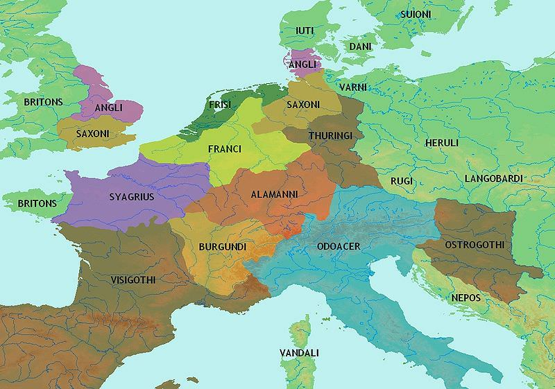 map of europe 5th century Central Europe 5th century CE (Illustration)   Ancient History