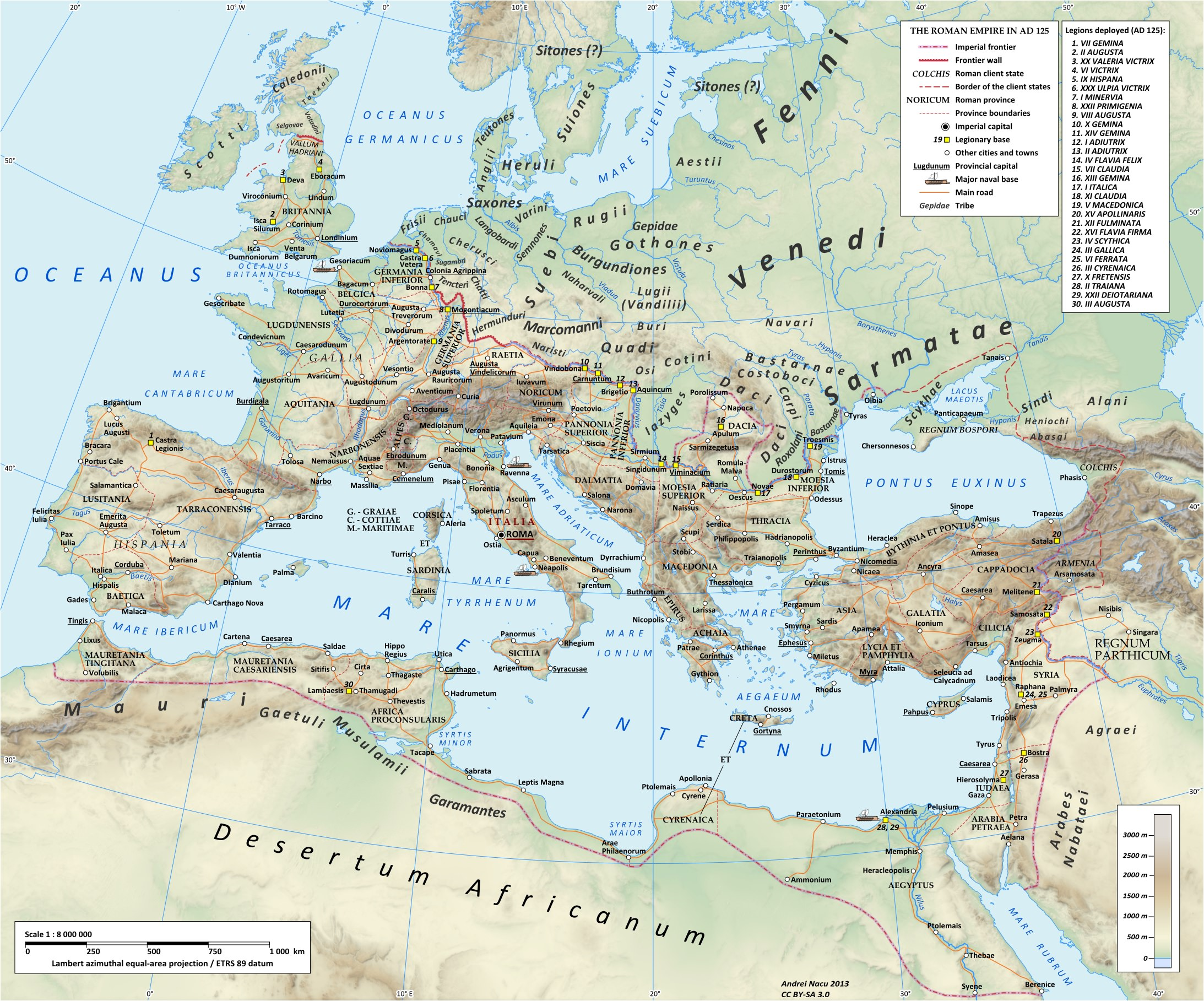 map of europe in 125 ce illustration ancient history encyclopedia