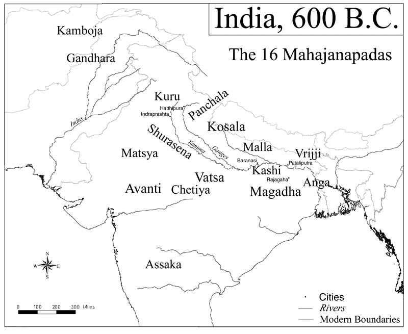 Map of india 600 bce illustration ancient history encyclopedia map of india 600 bce gumiabroncs Choice Image