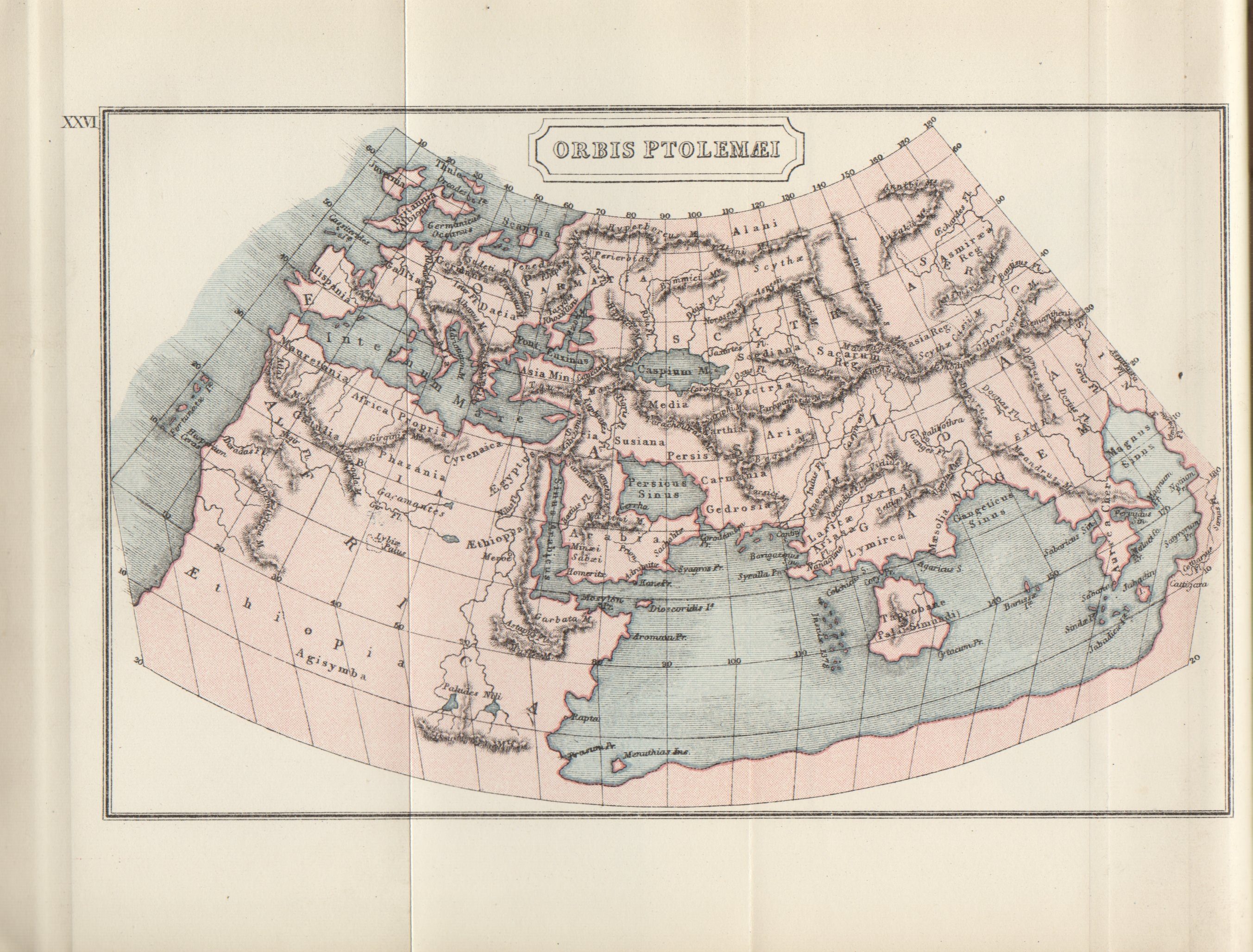 Map of the ptolemaic world illustration ancient history encyclopedia a map showing the known world at the time of the ptolemaic empire ca 300 bc gumiabroncs Gallery