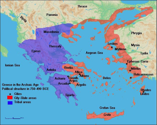 Map of Archaic Greece (Illustration) - Ancient History Encyclopedia