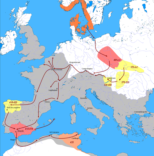 Vandal Migration (Illustration) - Ancient History Encyclopedia on