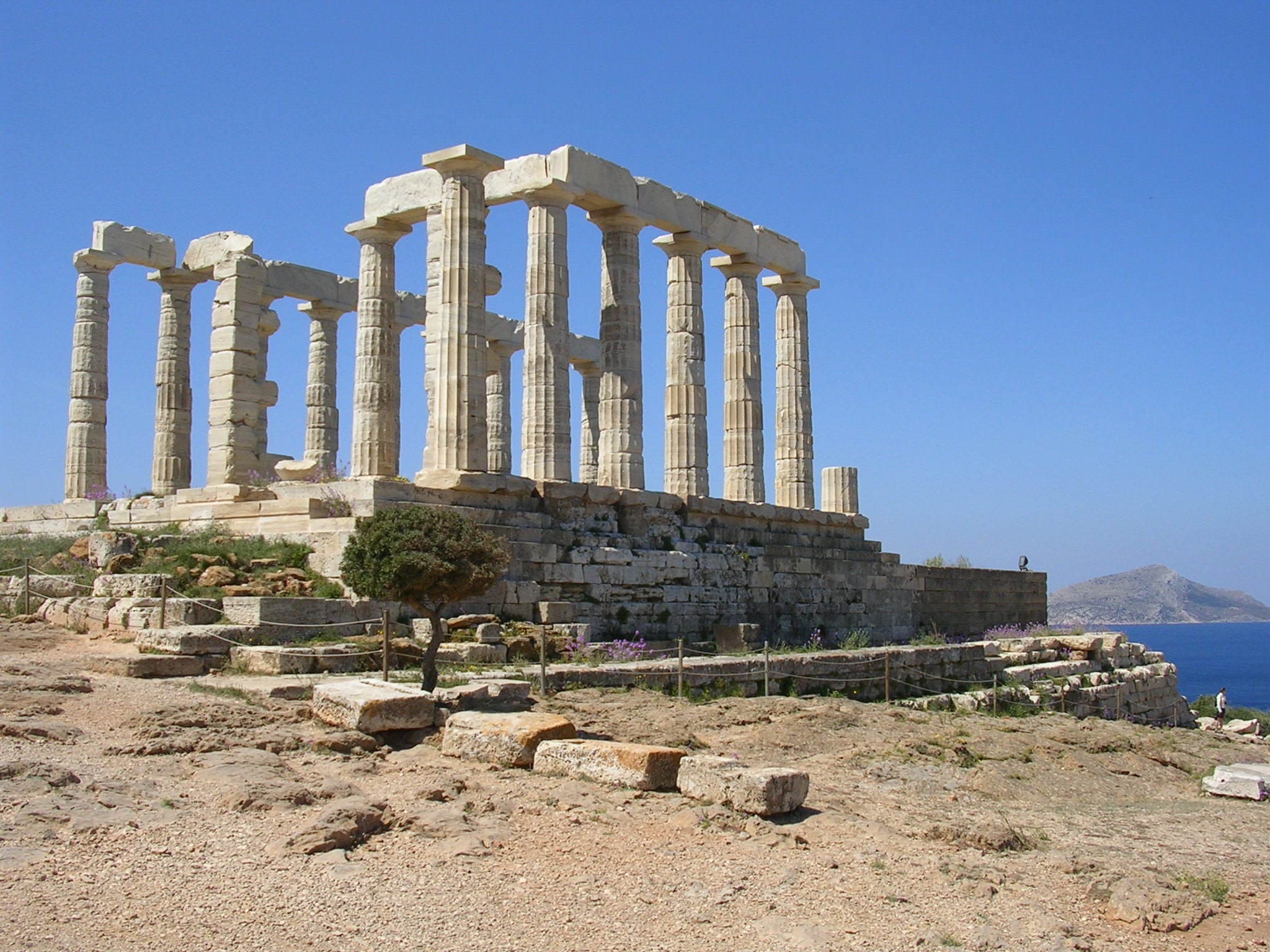Beautiful pictures of gods and their temple - Temple Of Poseidon Sounion Greece