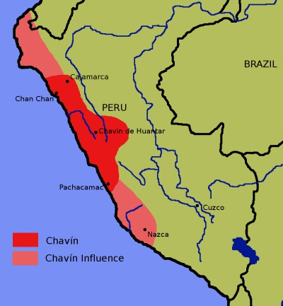 Chavin Civilization Map (Illustration)   Ancient History Encyclopedia