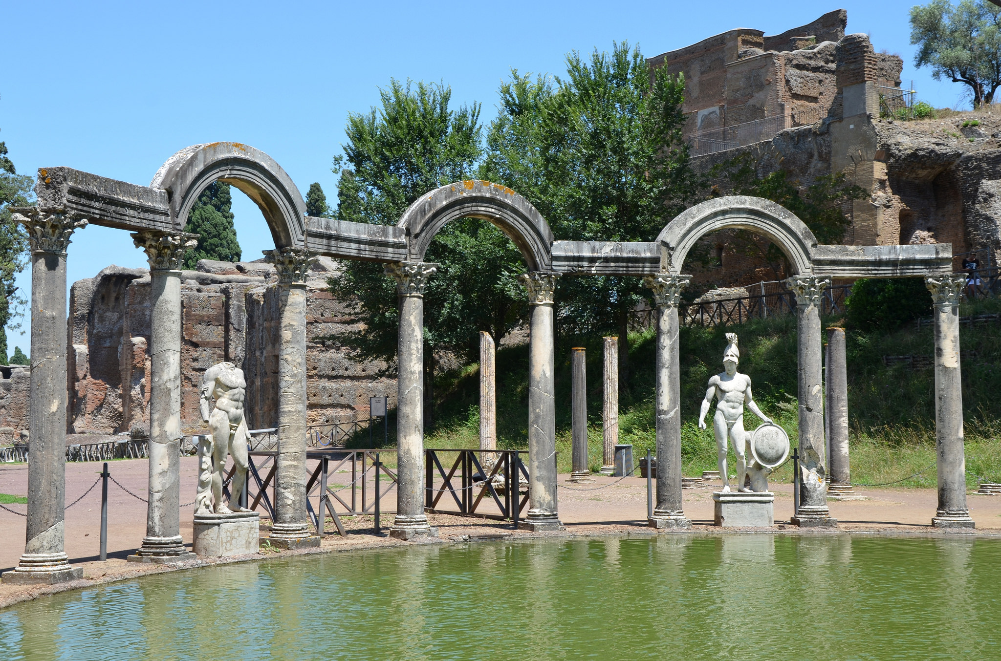 The Canopus At Hadrian S Villa Tivoli Illustration