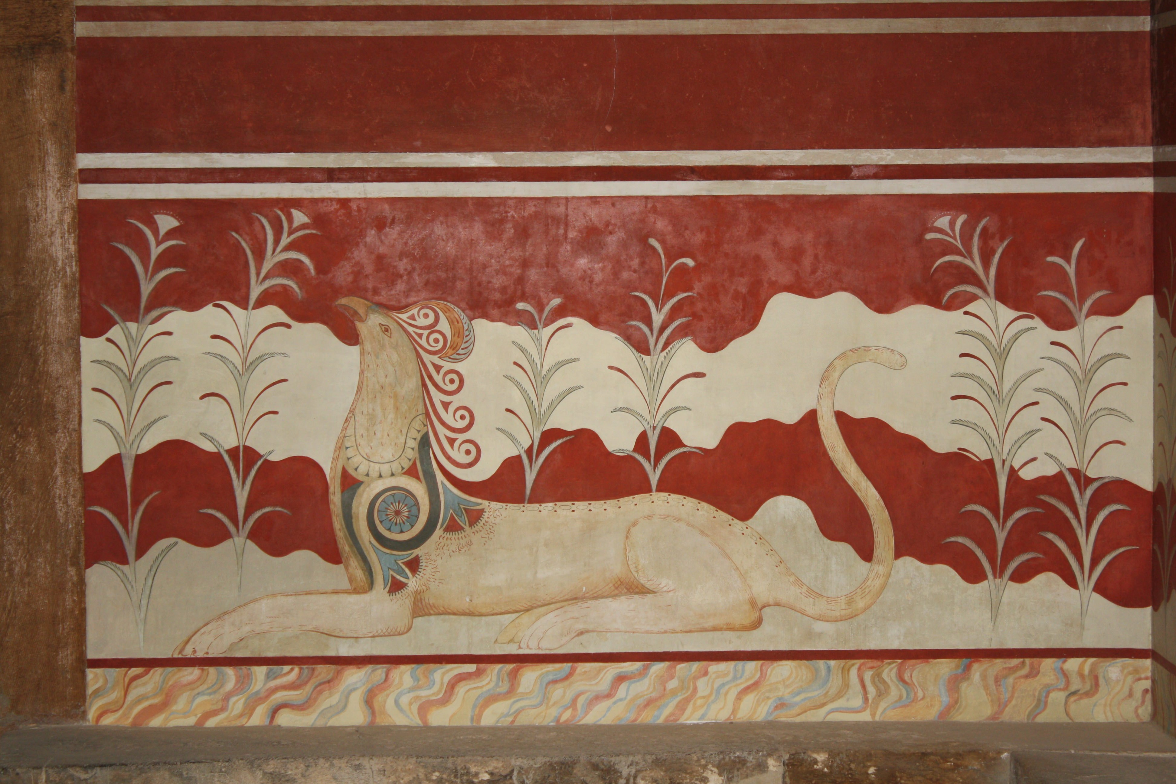Cretan Griffin Wall Painting