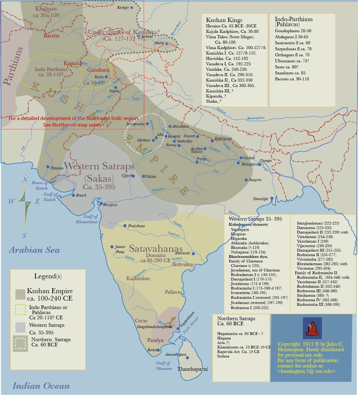 Kushan Empire & Neighboring States (Illustration) - Ancient History on parthian empire map, choson empire map, sassanid empire map, ancient egypt nubia and kush map, gupta empire map, chola kingdom map, hephthalite empire map, ming dynasty map, frankish kingdom map, timurid empire map, umayyad empire map, afghan empire map, ghana empire map, pallava empire map, union of soviet socialist republics map, kangxi empire map, delhi sultanate map, khmer empire map, ancient persia empire map, greco-bactrian empire map,