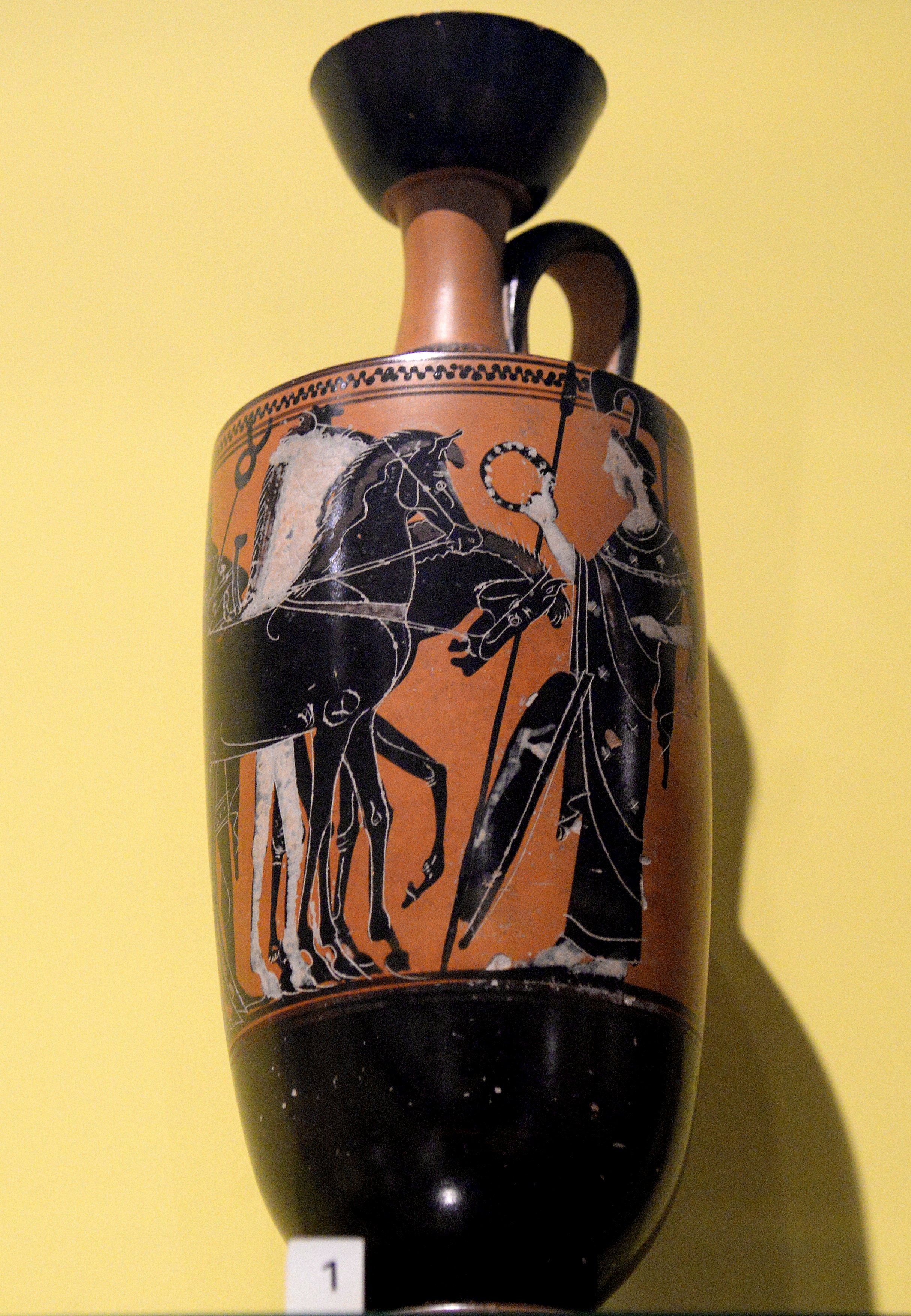Lekythos gods with chariots illustration ancient history oil especially olive oil was stored in specialized greek pottery lekythos pleural lekythoi many lekythoi were found inside tombs they were used to reviewsmspy