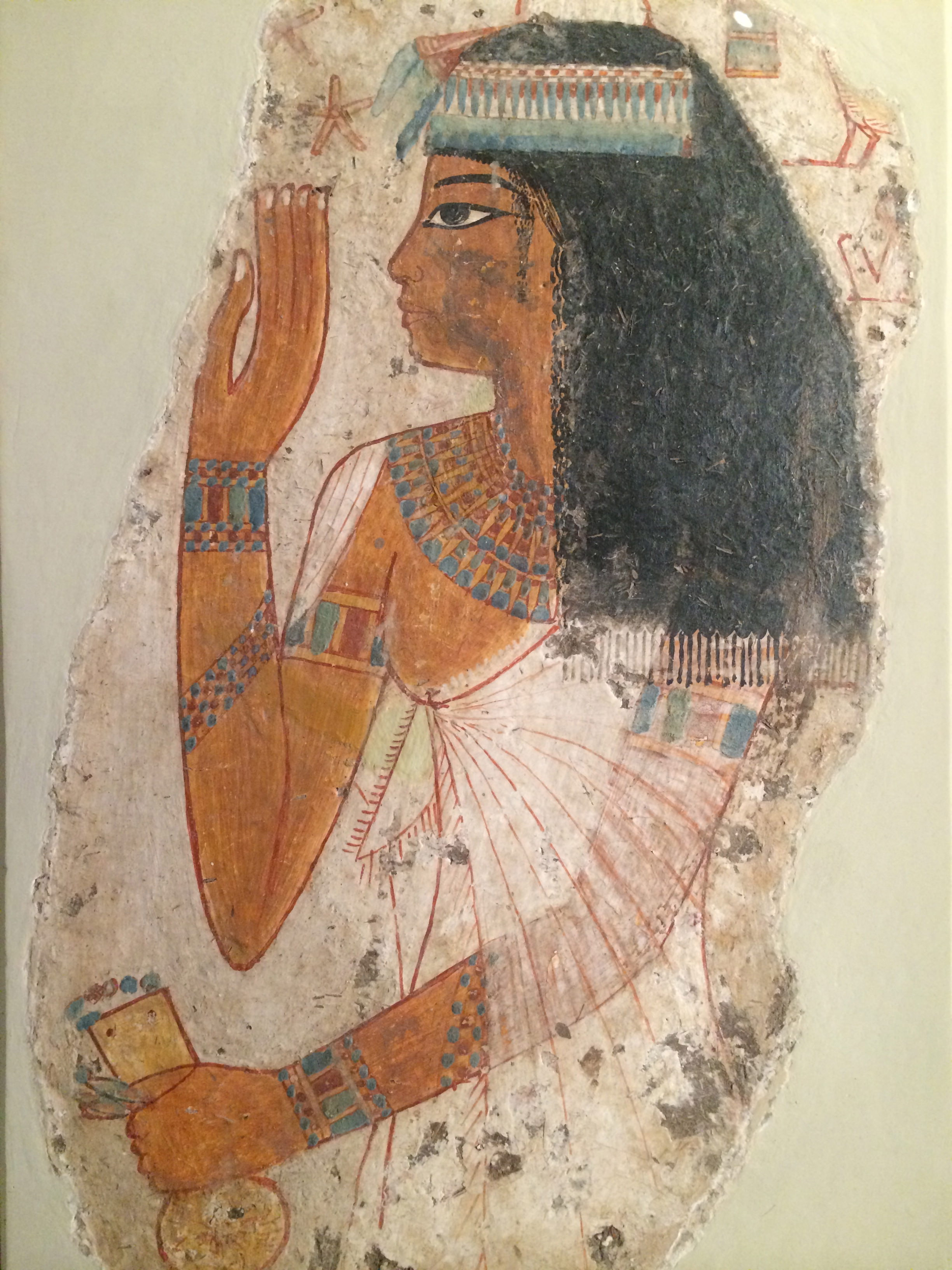 Lady tjepu illustration ancient history encyclopedia for Egyptian fresco mural painting