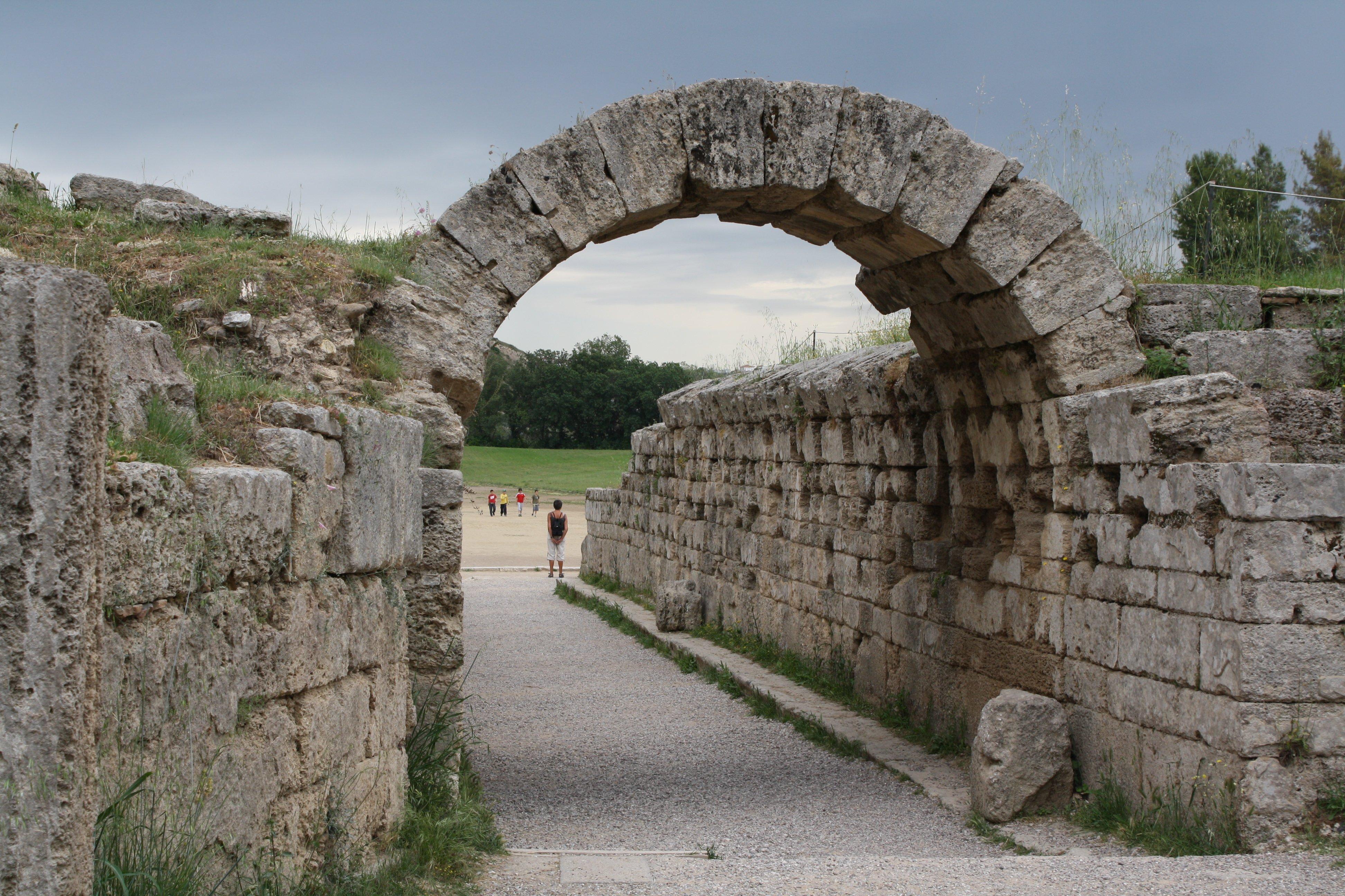 Stadium Entrance Olympia Illustration Ancient History