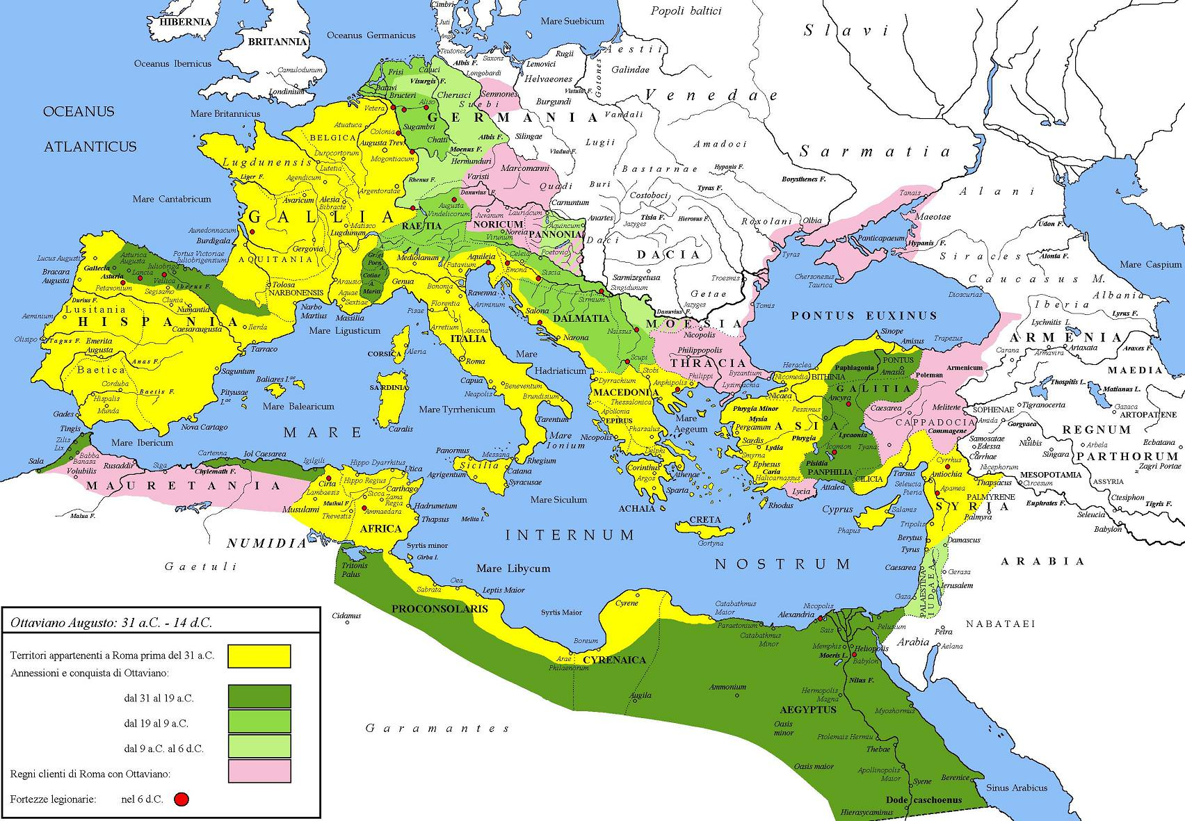 Map Of Roman Empire Roman Empire under Augustus (Illustration)   Ancient History  Map Of Roman Empire