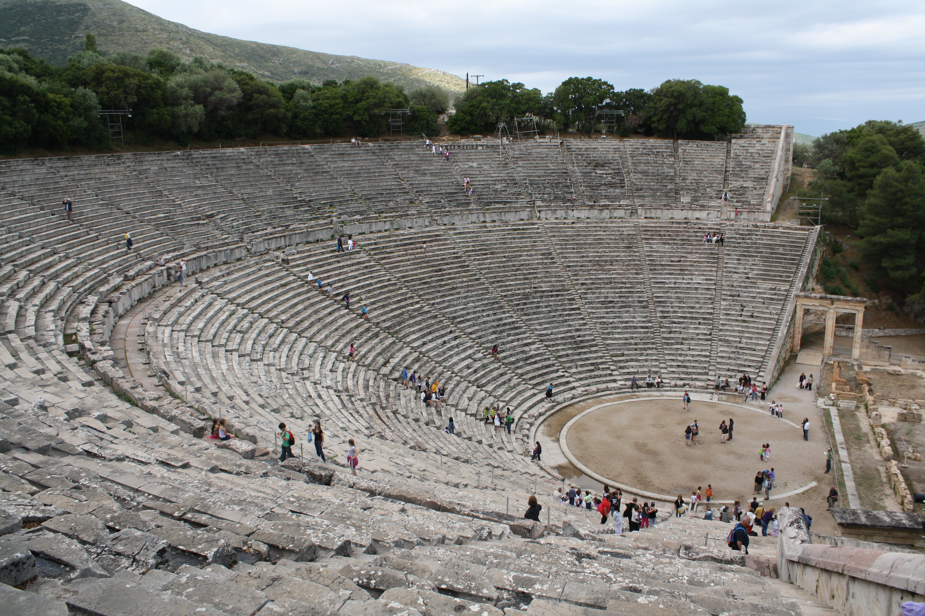seating of the theatre of epidaurus illustration ancient history