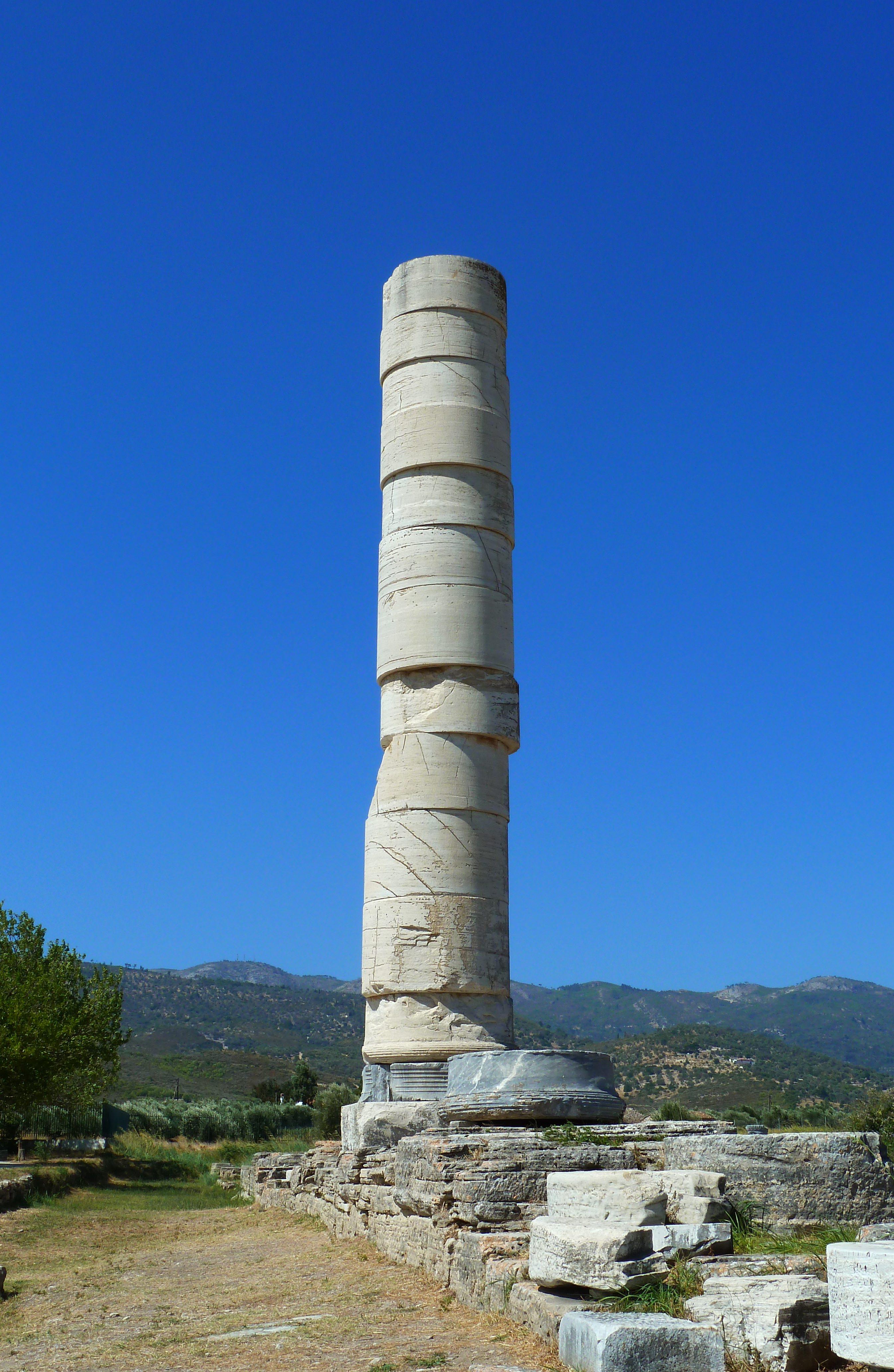 Column Of The Heraion Samos Illustration Ancient History Encyclopedia