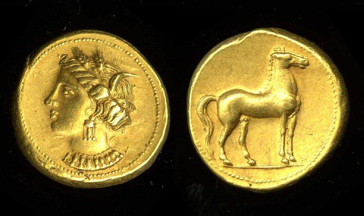 Tanit, Carthaginian Electrum Coin