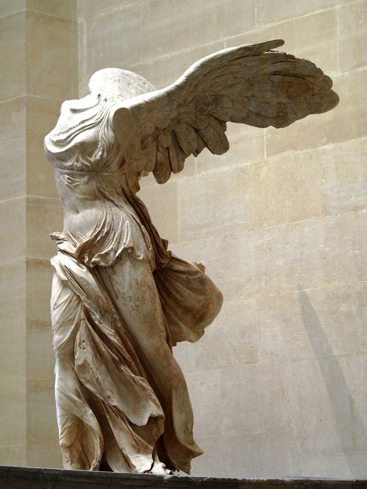 nike of samothrace An exact replica of the winged victory of samothrace, also called the nike of  samothrace is to be installed in its natural place at the.