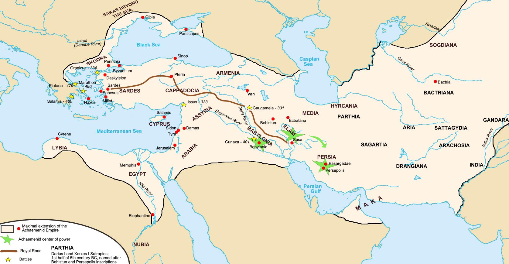Persian royal road illustration ancient history encyclopedia persian royal road gumiabroncs Images