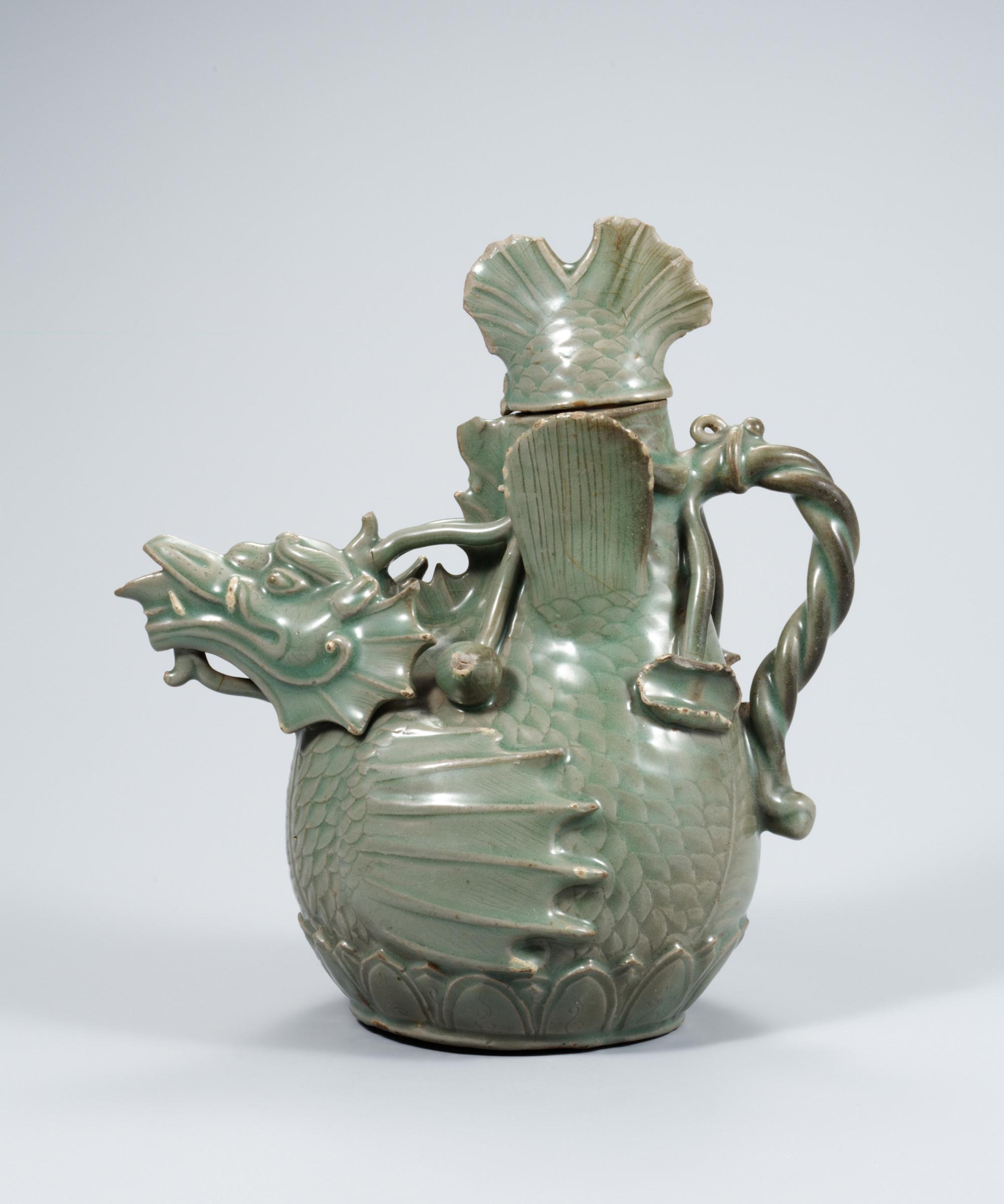 Celadon fish dragon ewer goryeo dynasty illustration ancient celadon fish dragon ewer goryeo dynasty reviewsmspy