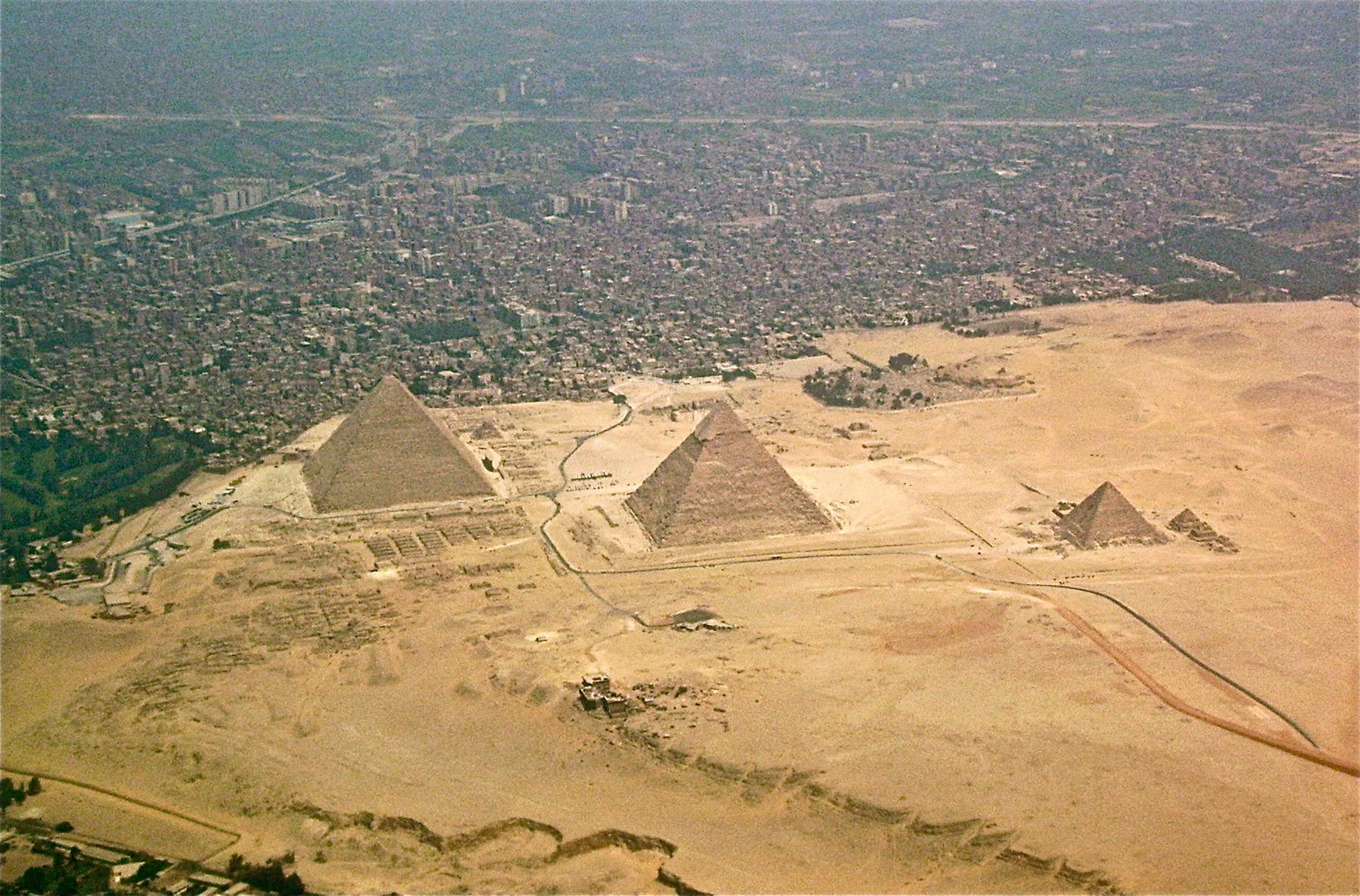 the pyramids of giza aerial view illustration ancient history