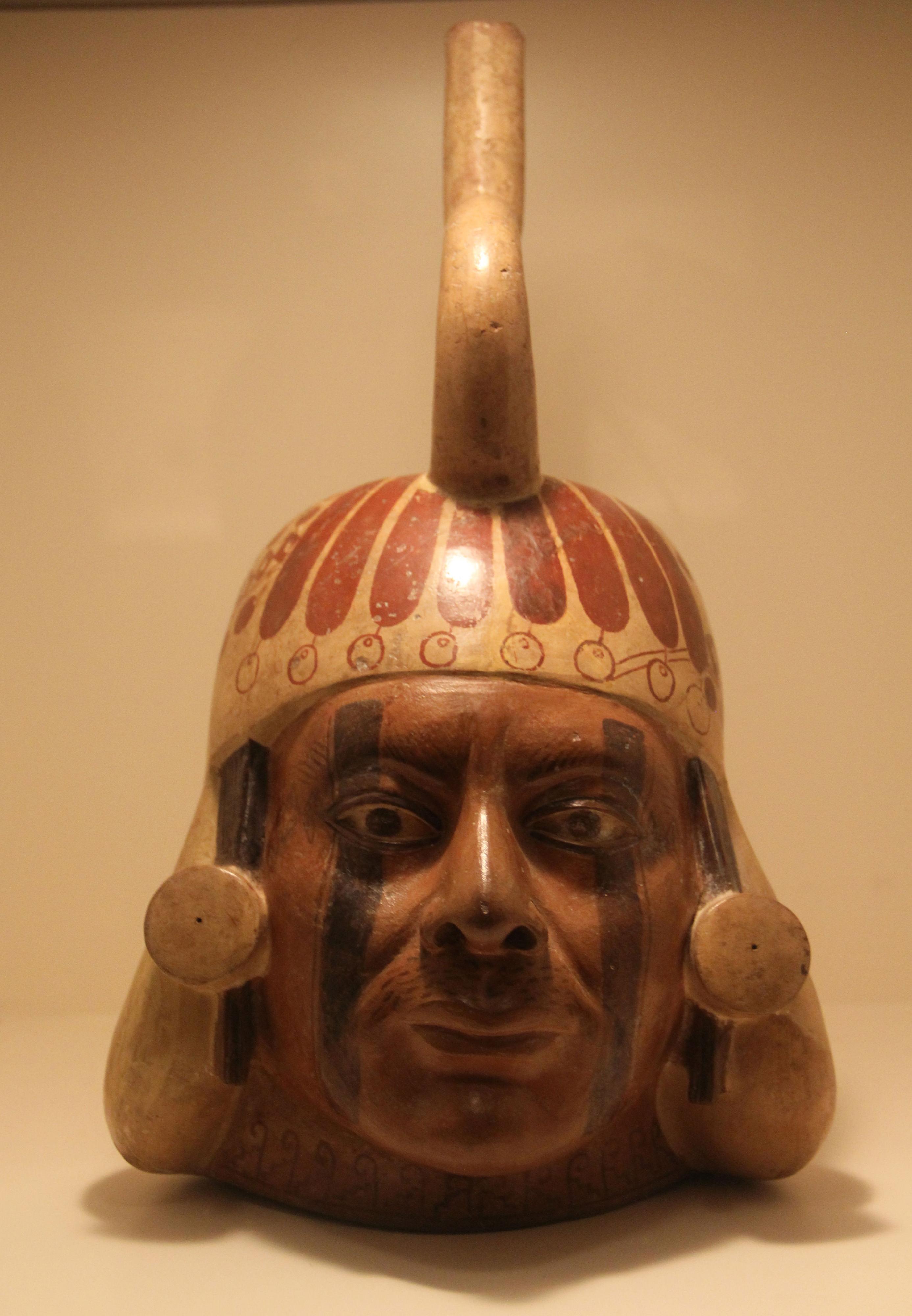 Moche Pottery Portrait