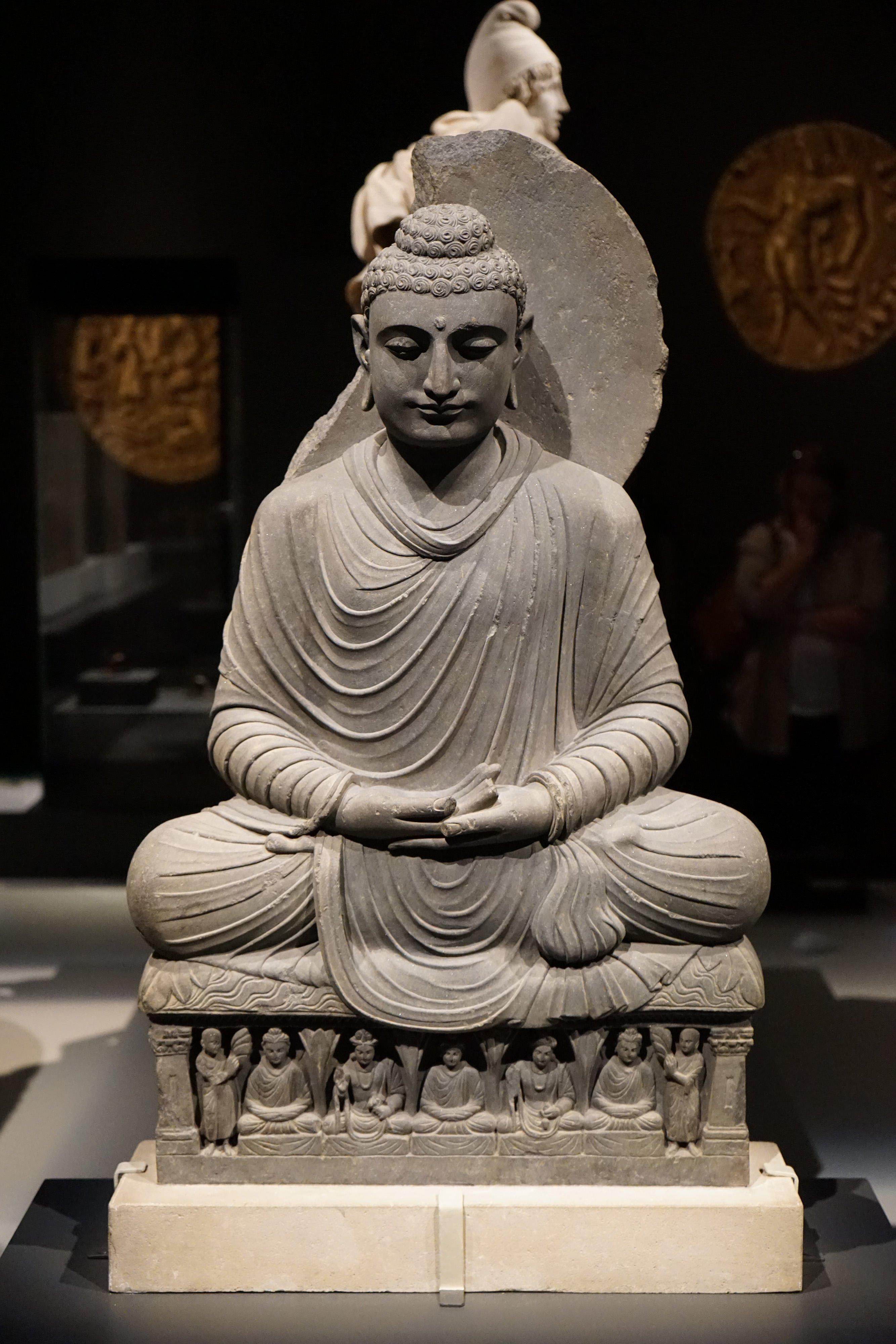 Seated Buddha From Gandhara Illustration Ancient History Encyclopedia
