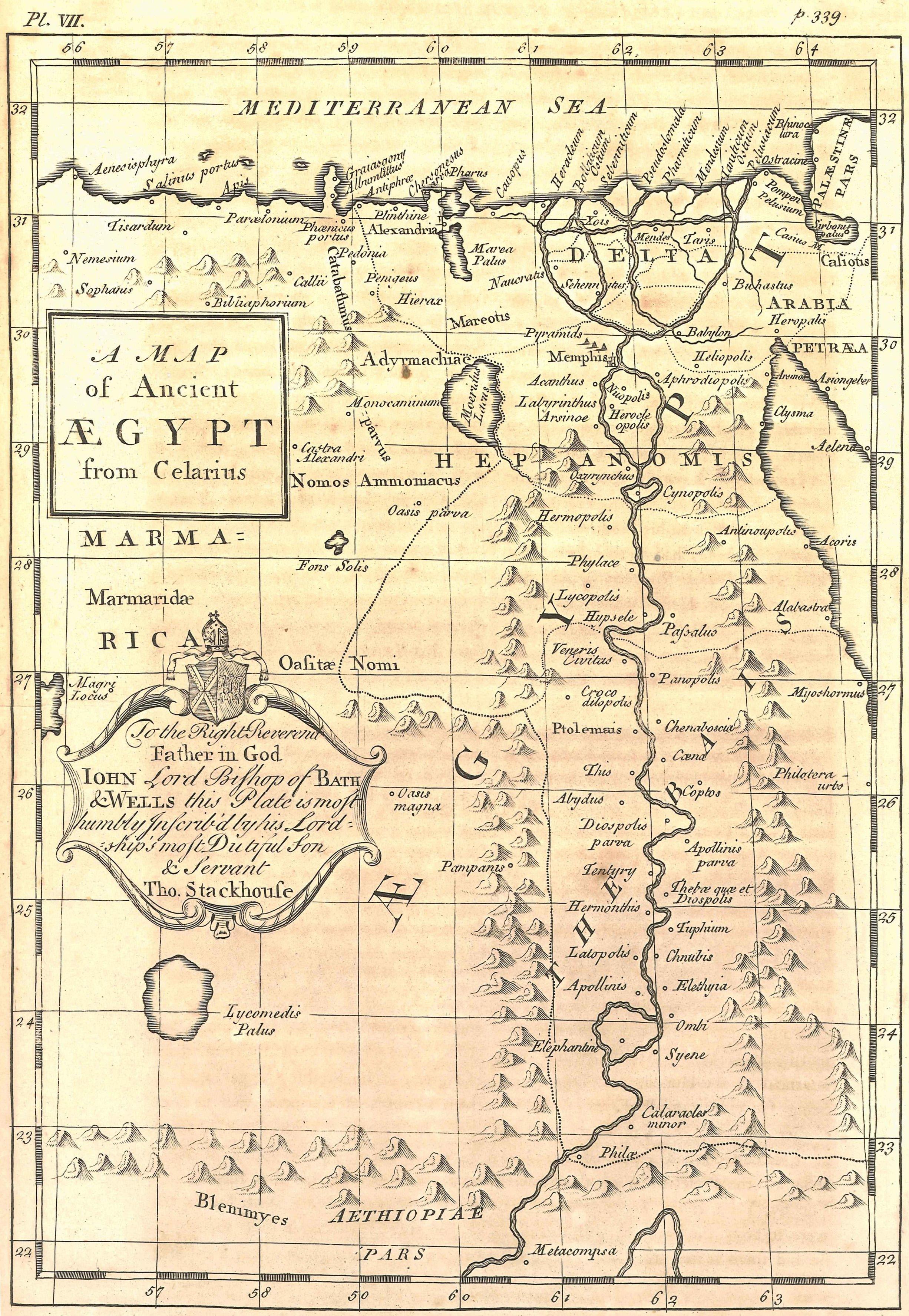 Map of Ancient Egypt Illustration Ancient History Encyclopedia