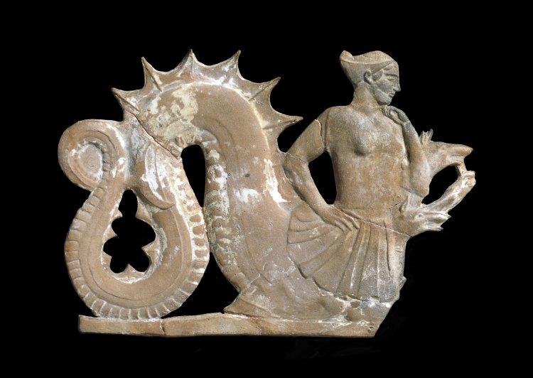 Scylla Terracotta Plaque