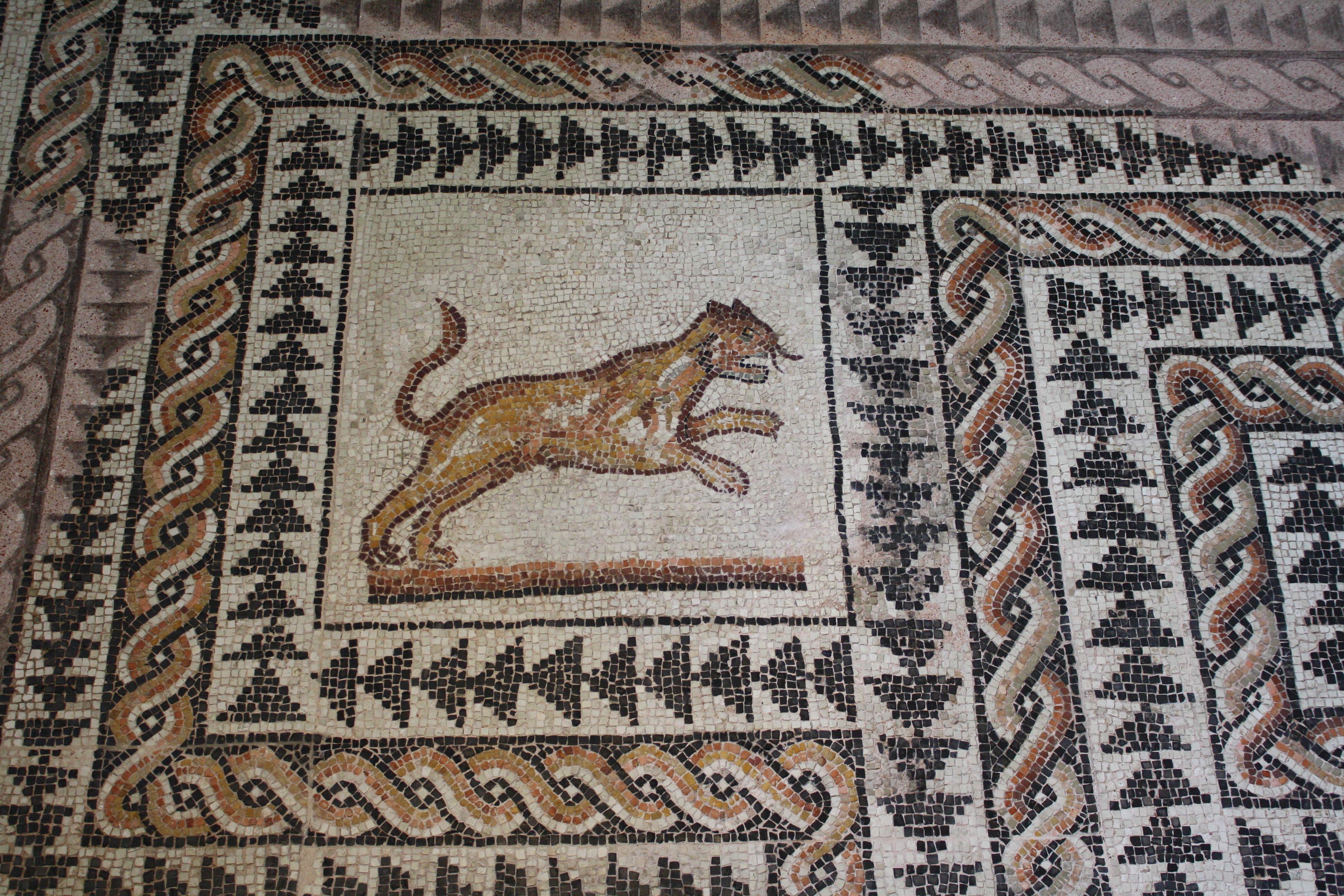 Roman Mosaic Illustration Ancient History Encyclopedia