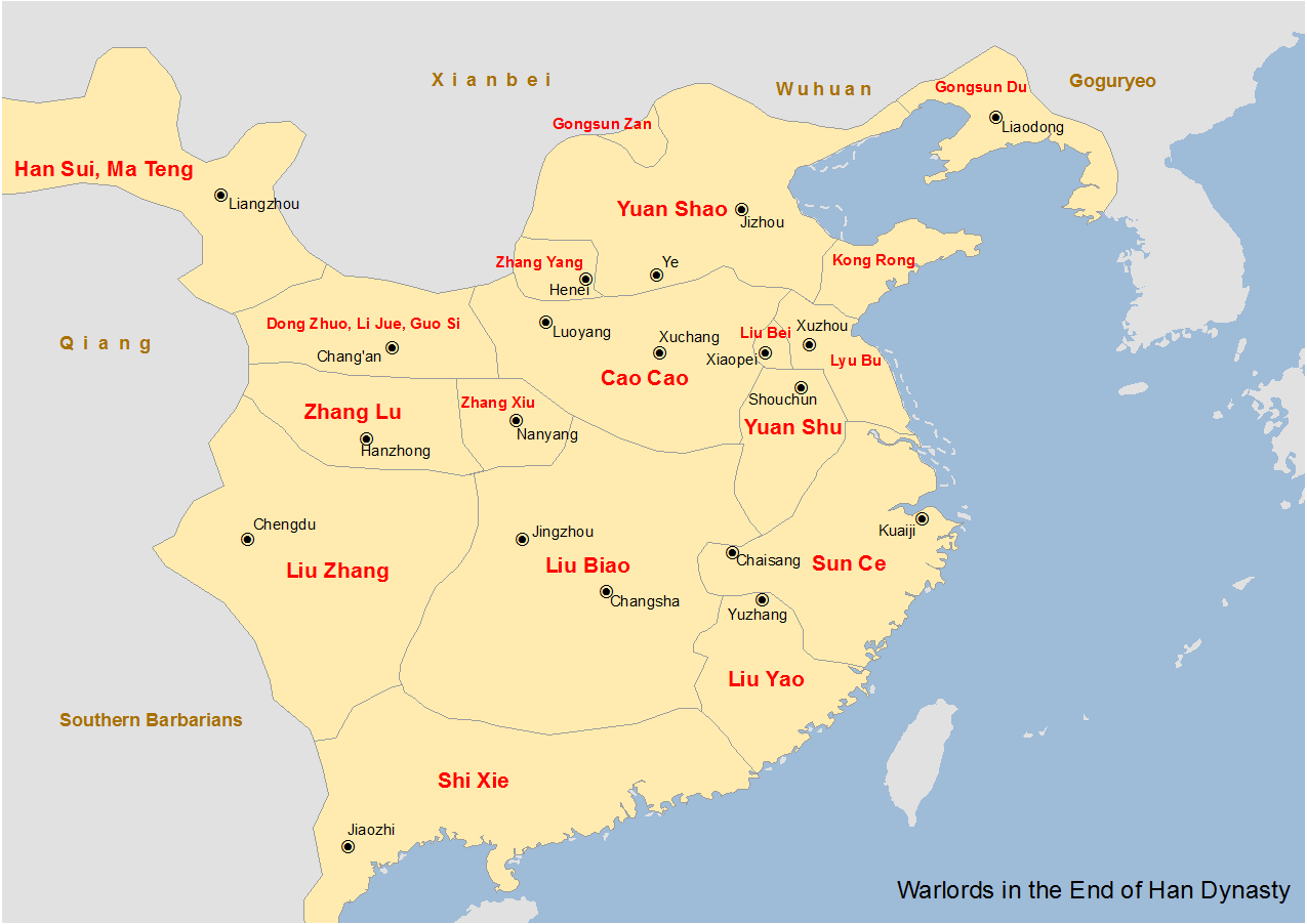 map of han dynasty in ancient china China Warlords 2nd 3rd Century Ce Illustration Ancient map of han dynasty in ancient china