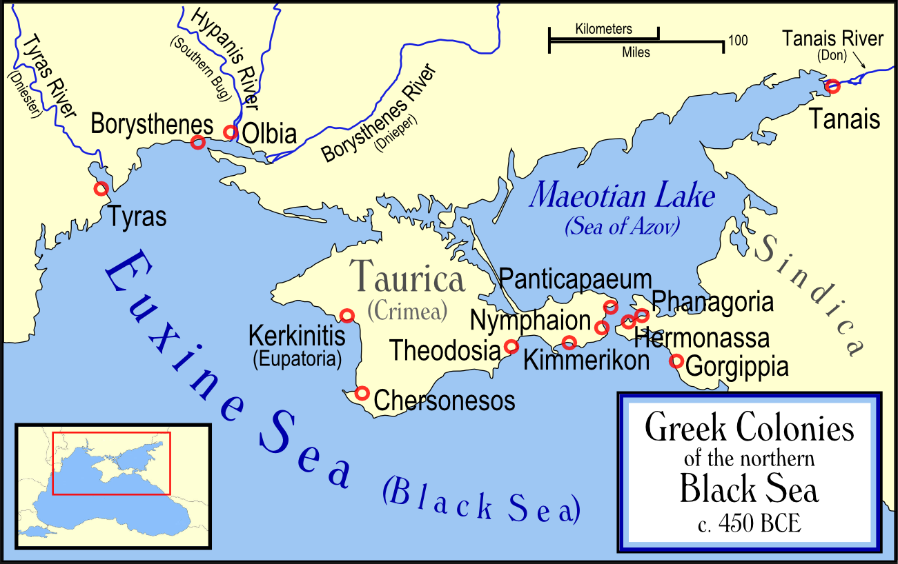 Greek Colonies of the Northern Black Sea Illustration Ancient