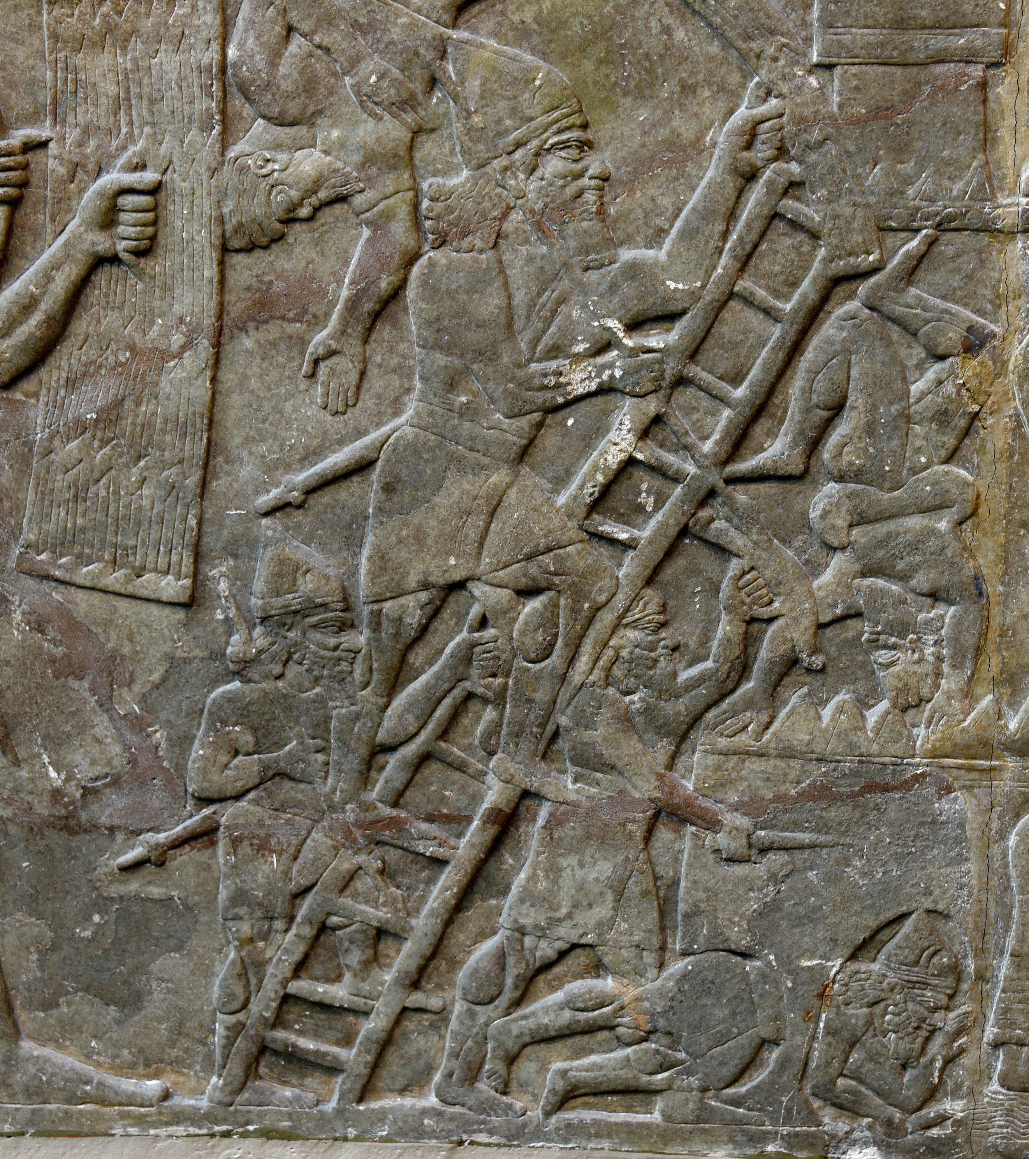 Assyrian Army Besieges a City