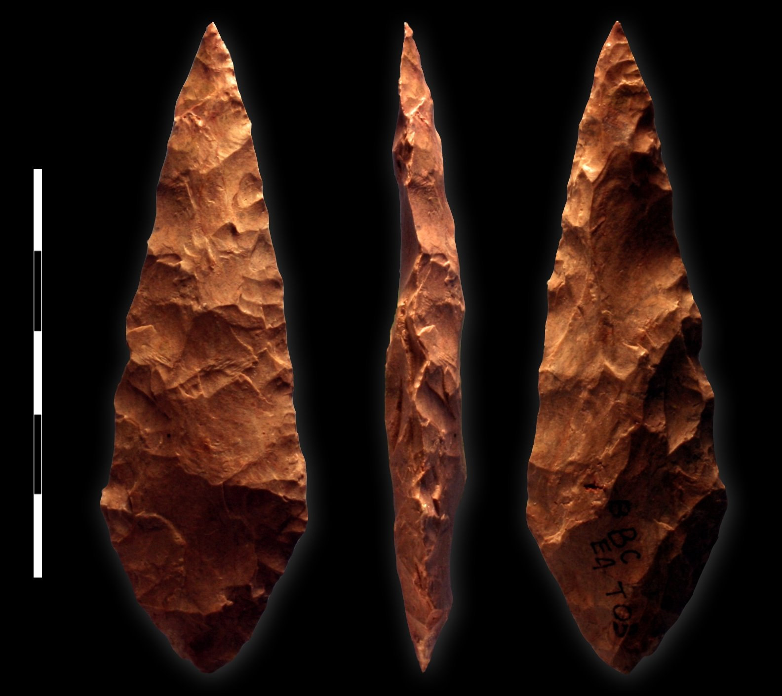 Biface from Blombos Cave, South Africa (Illustration ...