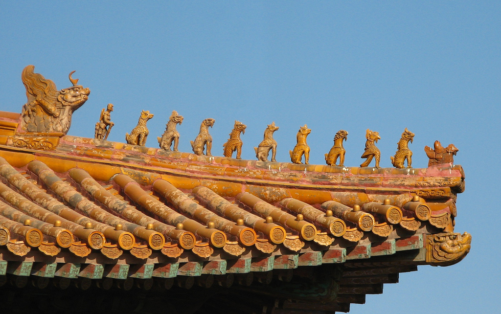 Traditional Chinese Roof Tiles Amp Acroteria Illustration