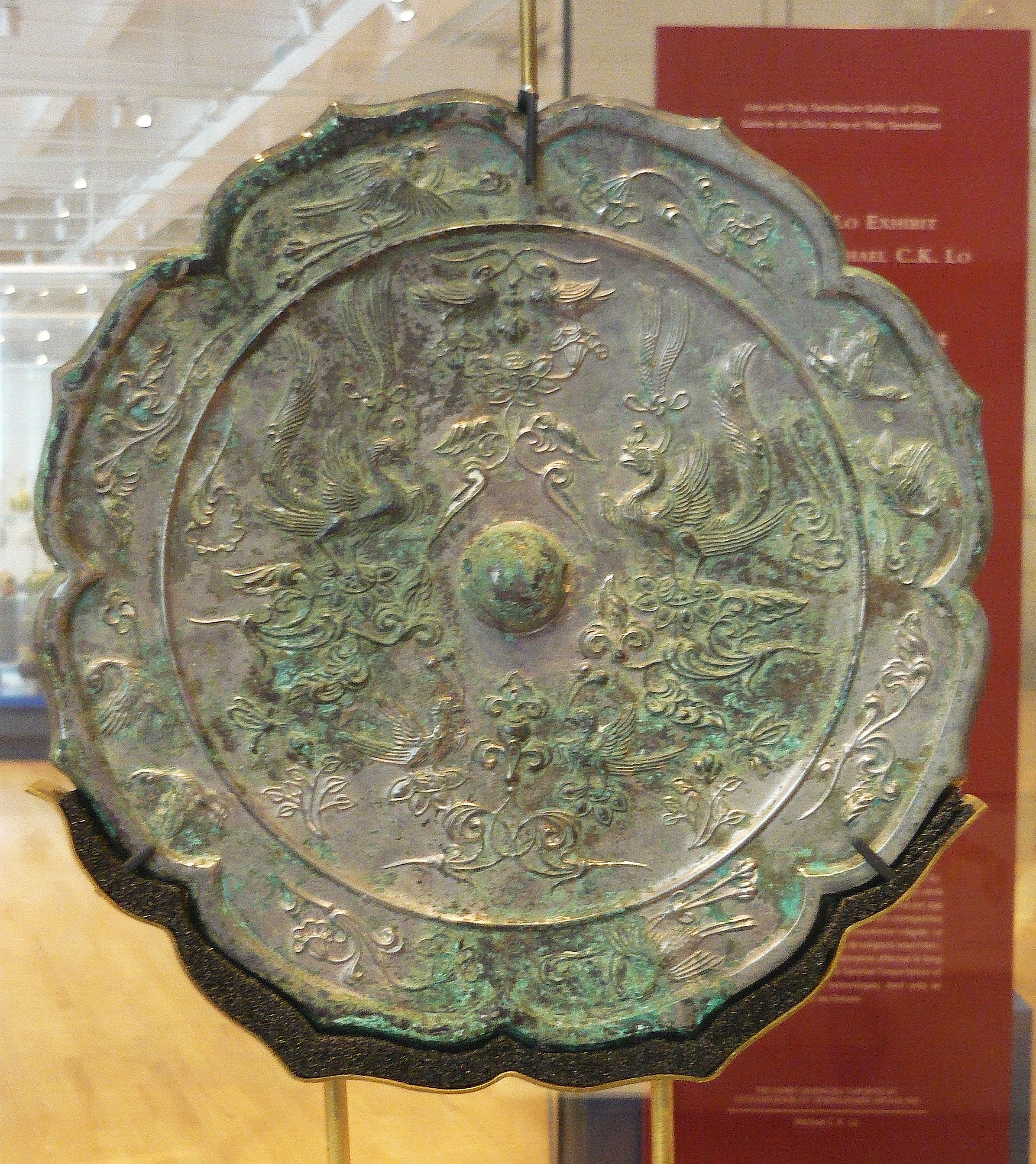 Chinese bronze mirror with phoenix motif illustration ancient this chinese bronze mirror with a phoenix motif dates from the tang dynasty 618 907 ce the phoenix was the female counterpart to the male dragon in biocorpaavc Choice Image