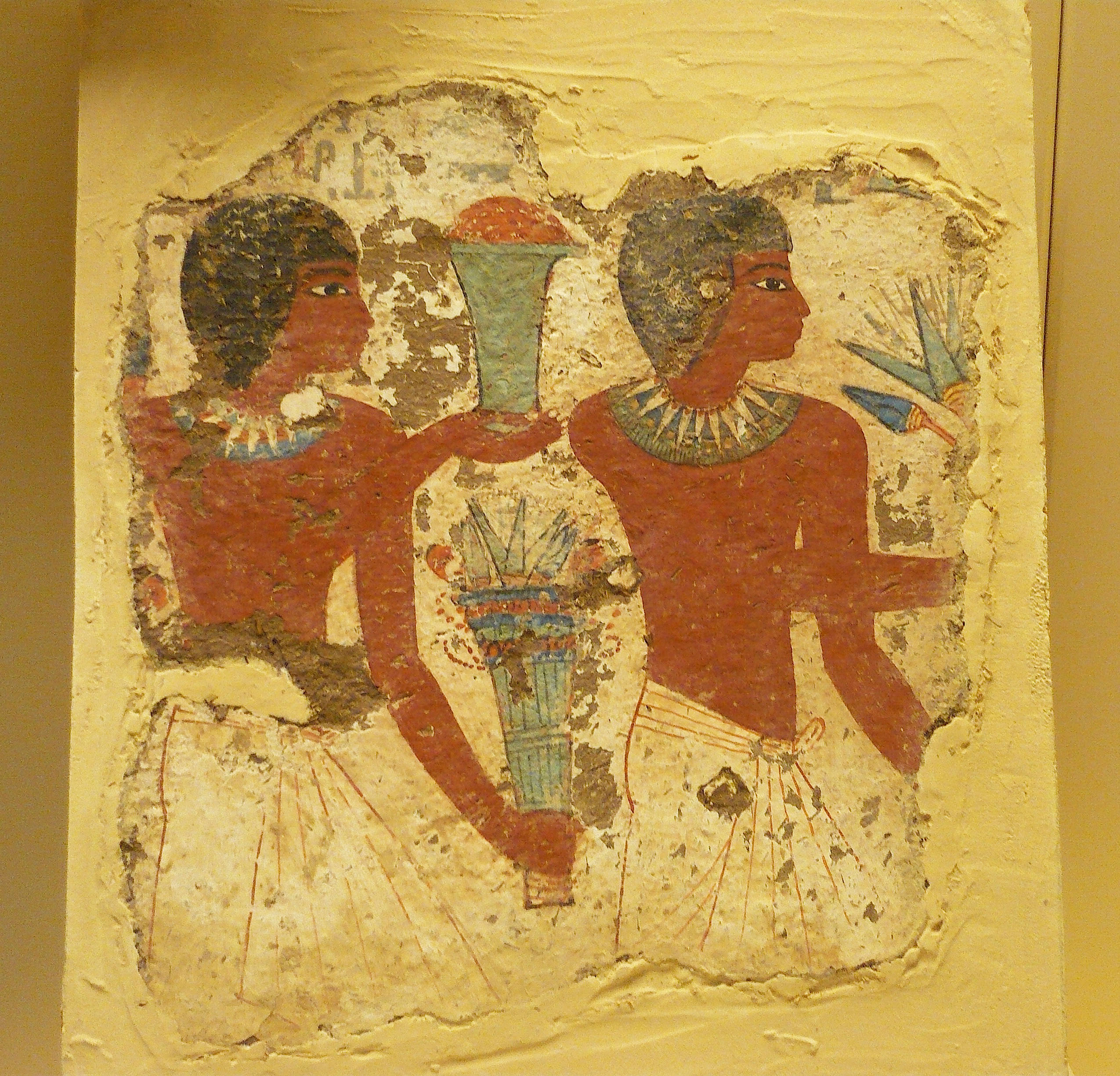 Ancient egyptian funeral painting illustration ancient for Ancient egyptian mural paintings