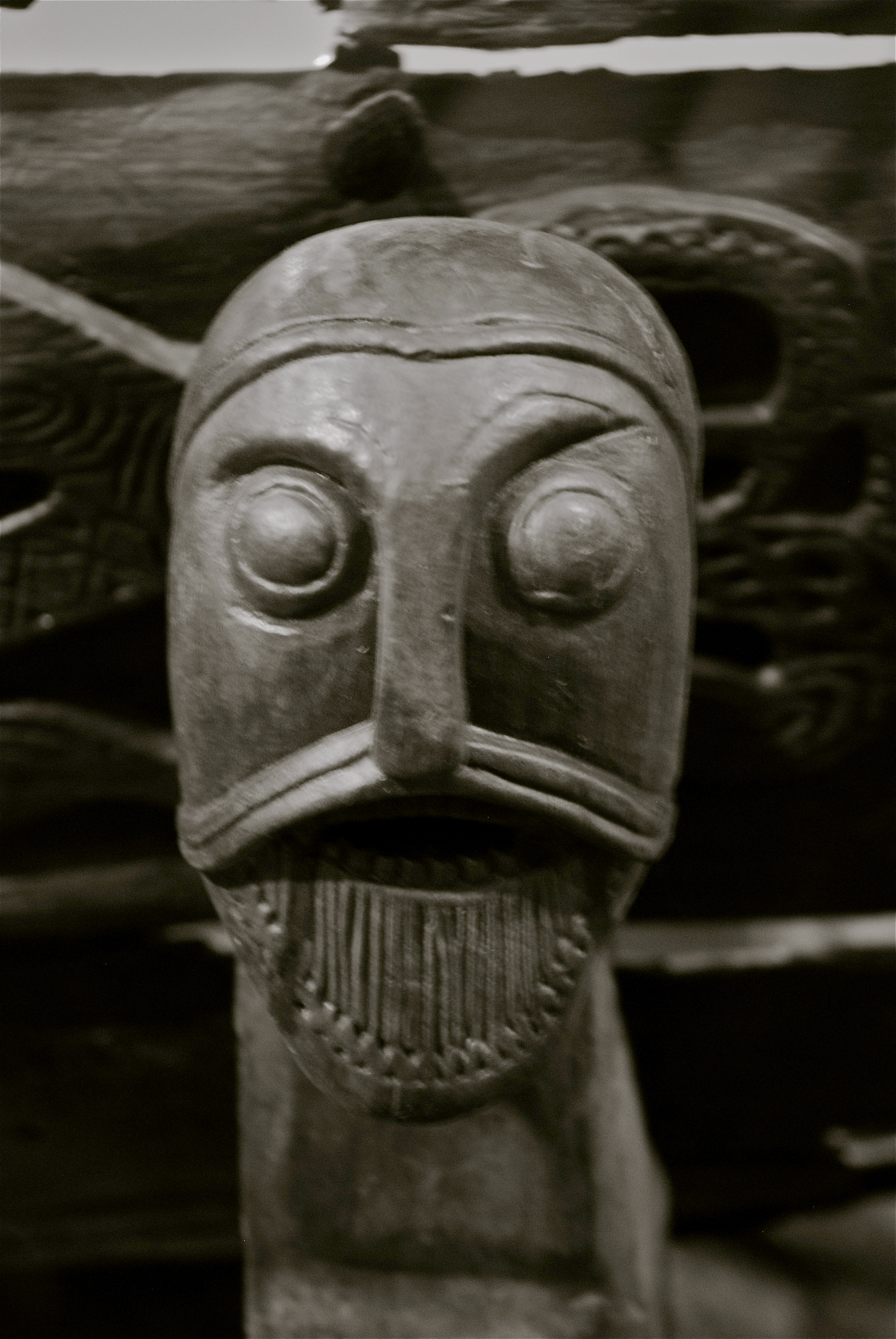Carved Viking Head Astrid Westvang
