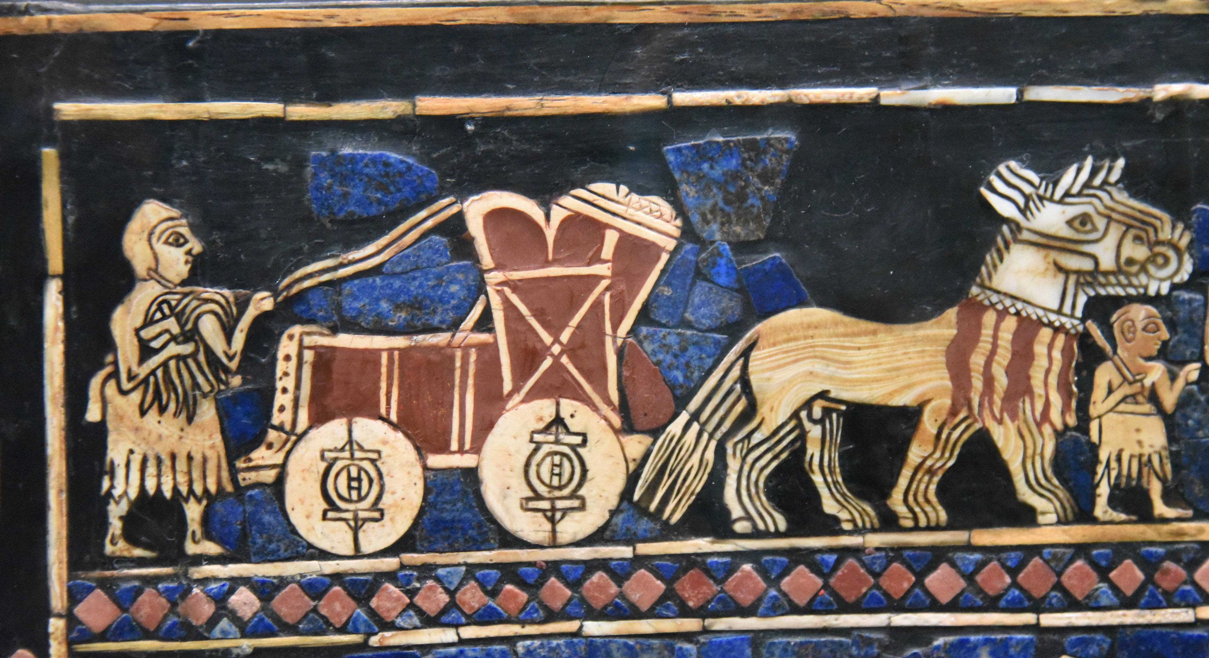 Chariot in the War Scene of the Standard of Ur (Illustration) - World  History Encyclopedia