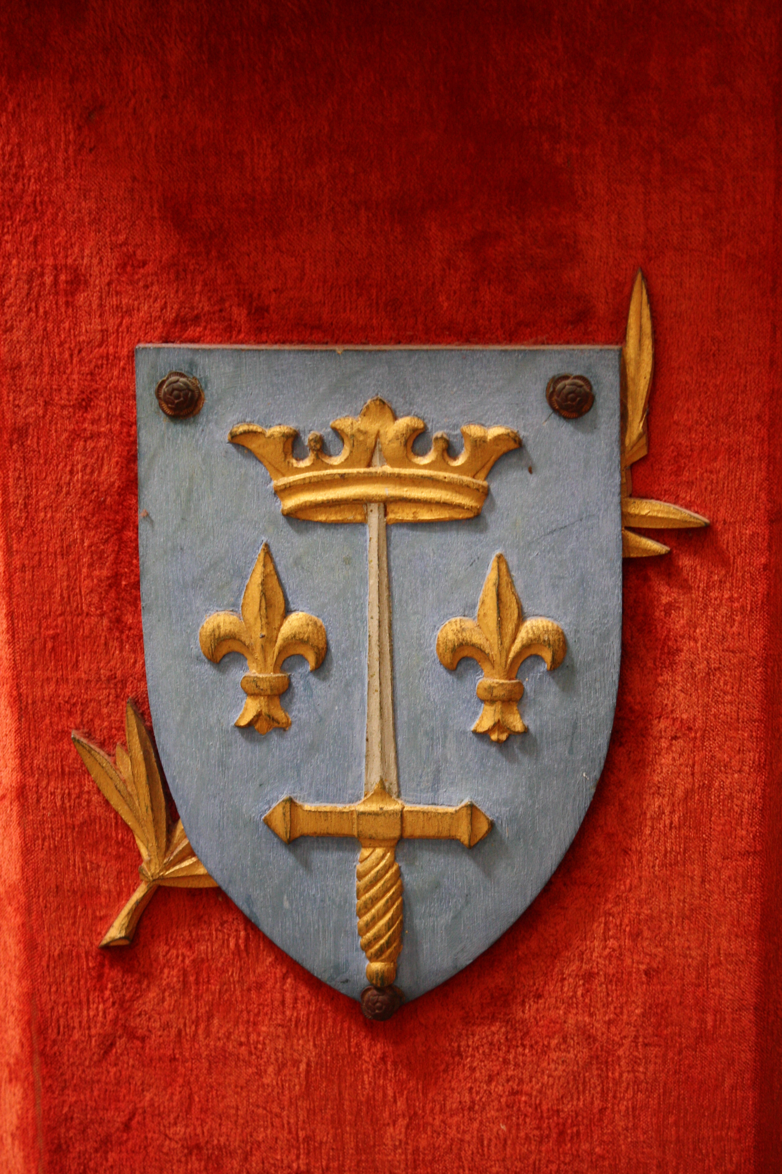 coat of arms of joan of arc illustration ancient