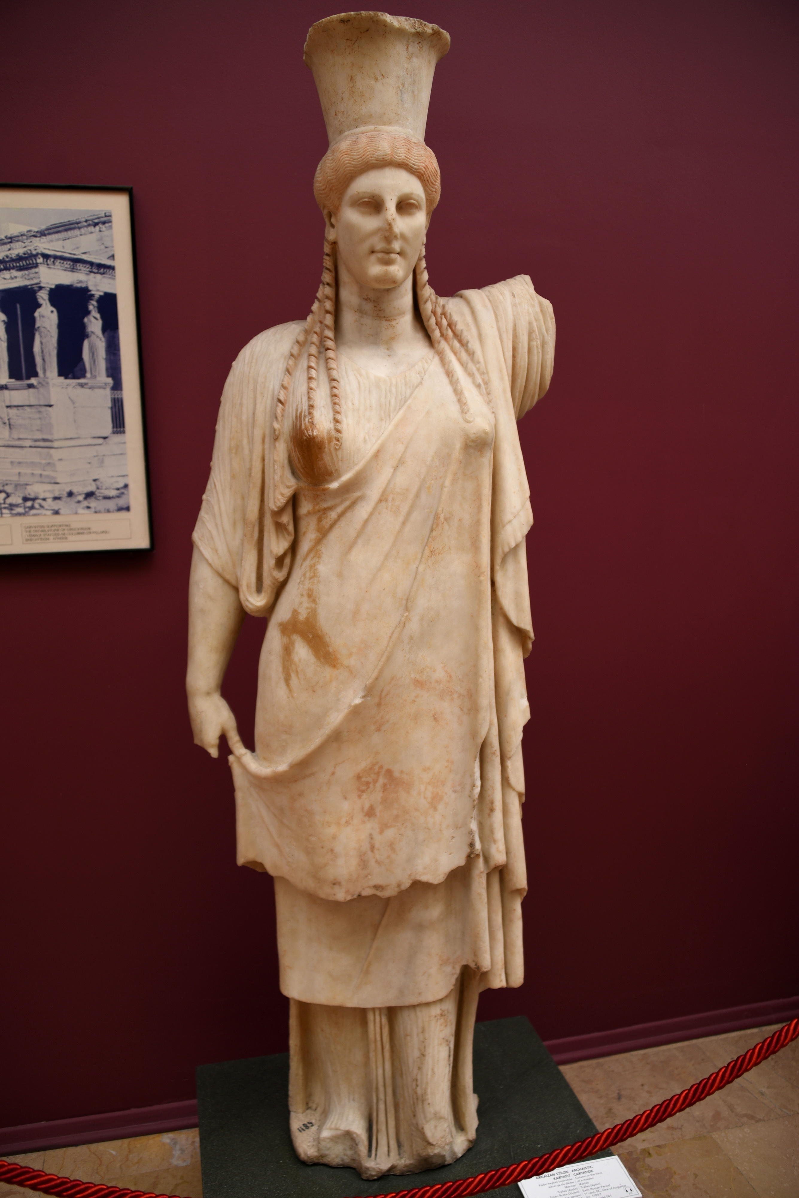 archaistic caryatid from tralles illustration ancient history