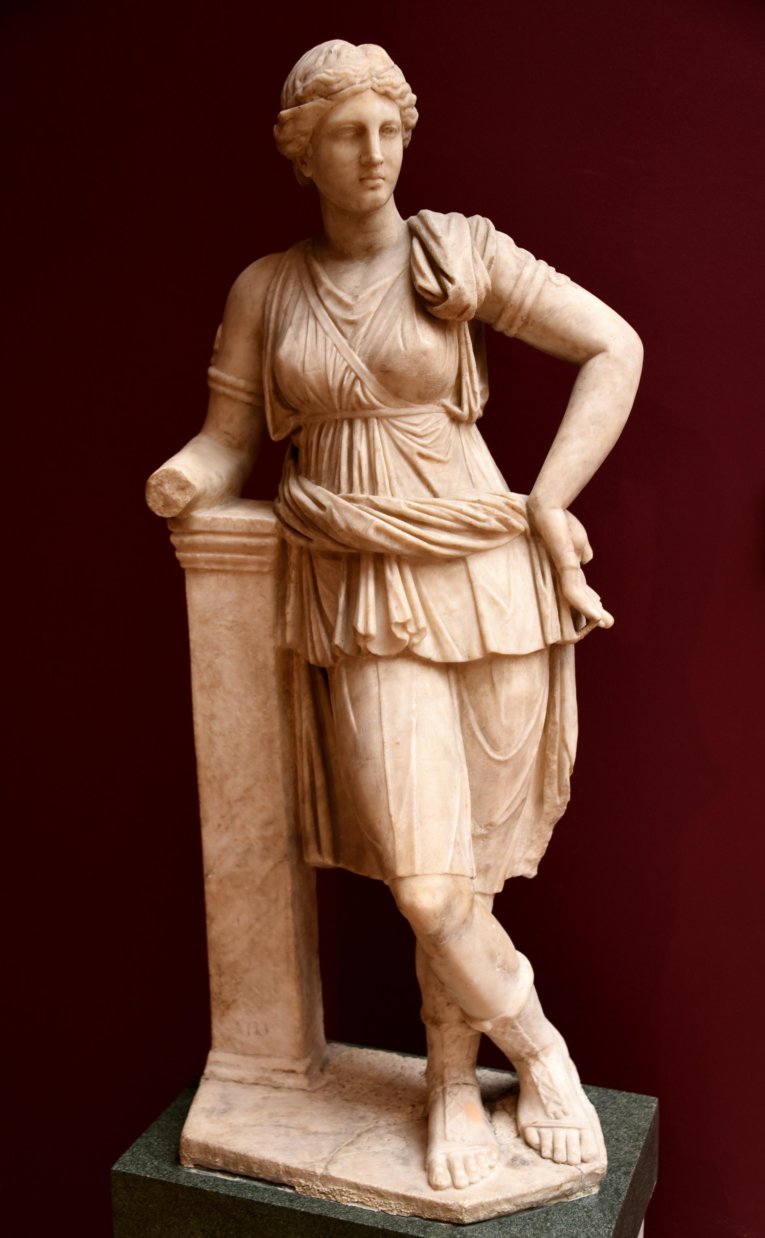 Statue of Artemis from Mytilene (Illustration)