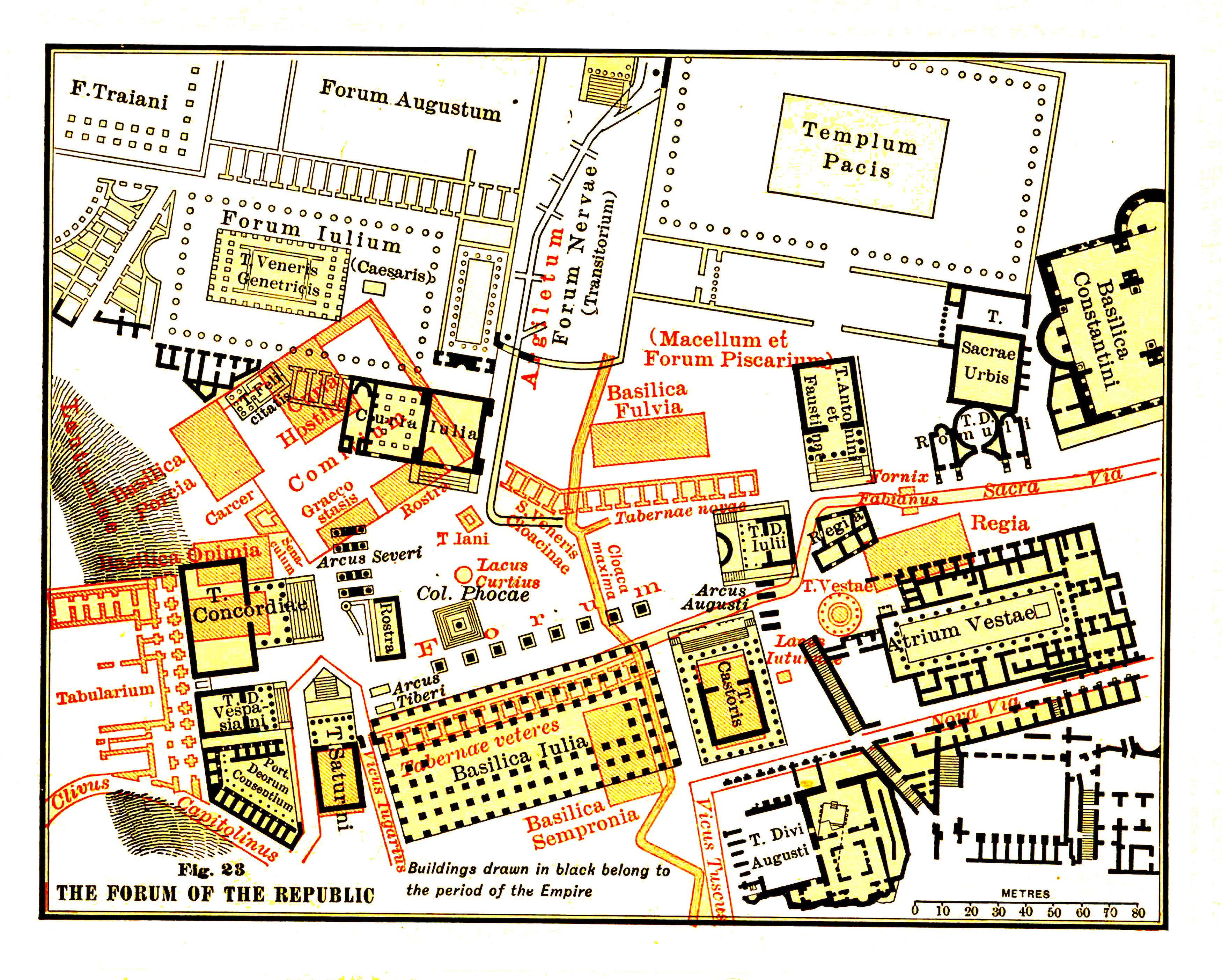 Roman Forum Map Map of the Roman Forum (Illustration)   Ancient History Encyclopedia