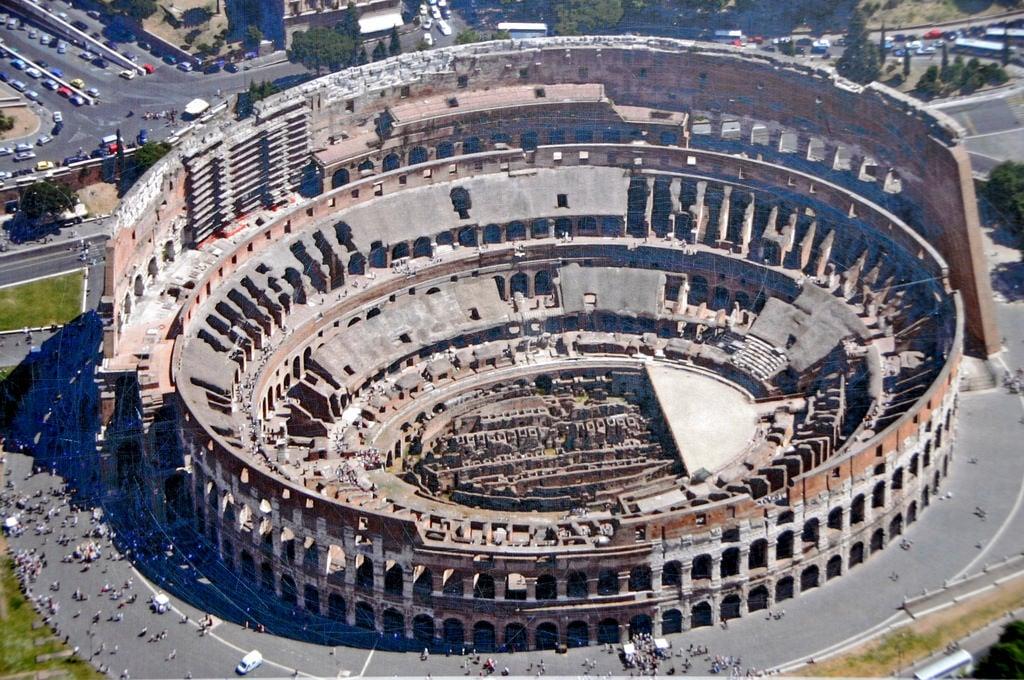 The Colosseum or Flavian Amphitheatre Illustration Ancient