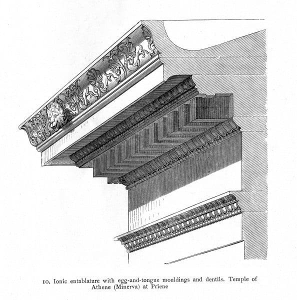 Cornija, Templo de Atena, Priene