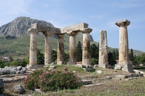 Monolithic Columns, Corinth