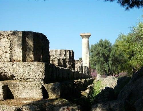 Crepidoma, templo, de, zeus, olympia