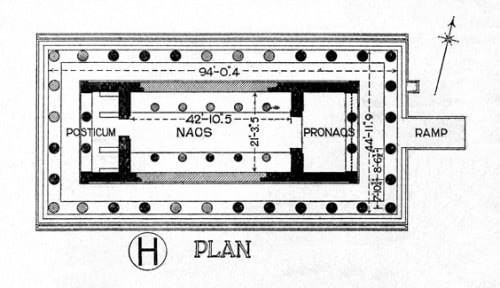 Plan, temple of Aphaia