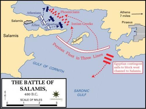 Batalla de Salamina, 480 a.