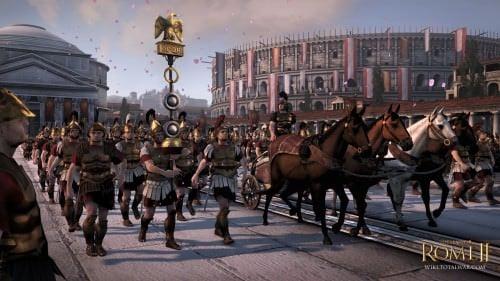 Procesión de la victoria romana