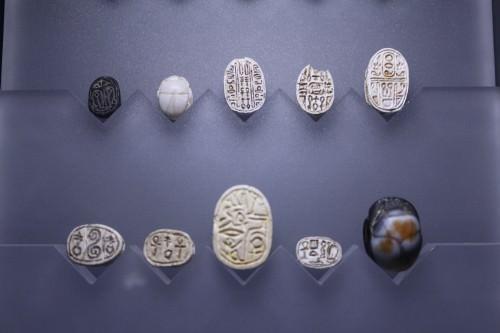 Amuletos del escarabajo egipcio