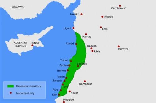 Map of Phoenicia