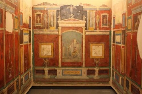Habitación romana con frescos